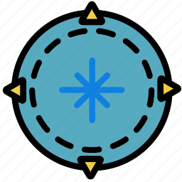 compass, forest, outdoors, wild icon