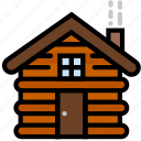 cabin, forest, outdoors, wild icon