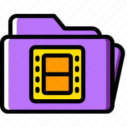 folder, movie, photography, record, video icon