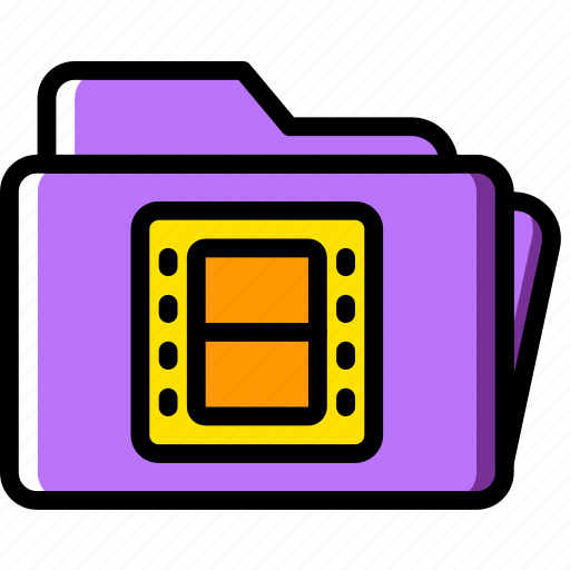 folder, movie, photography, record, video icon