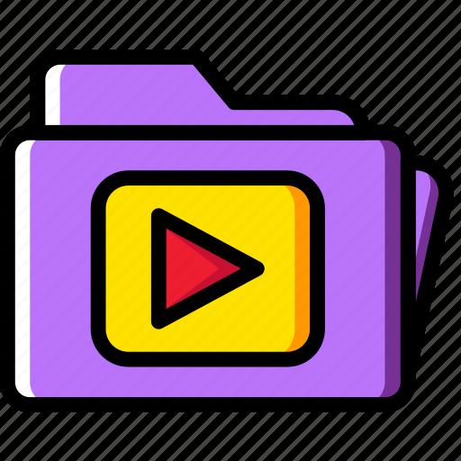 clip, folder, photography, record, video icon