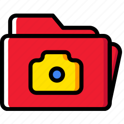 folder, photography, pictures, record, video icon