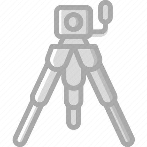 Record, photography, camera, video, tripod icon