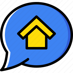 conversation, estate, home, house, property, real icon