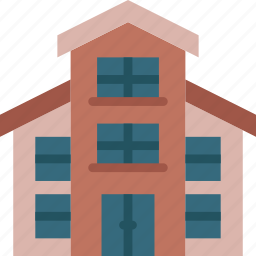 estate, home, house, property, real, triplex icon