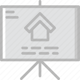 blueprint, estate, home, house, property, real icon
