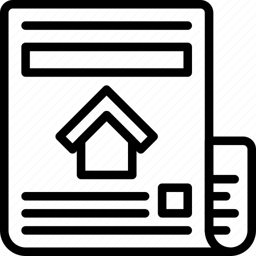 Estate, home, house, newspaper, property, real icon - Download on Iconfinder