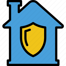 estate, home, house, property, protected, real icon