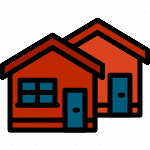 estate, home, house, neighbourhood, property, real icon