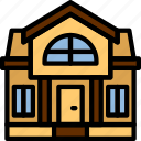 real, estate, house, mansion, home, property icon