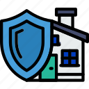 real, estate, house, protected, home, property icon