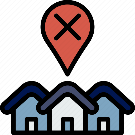 Real, estate, house, sale, error, home, property icon