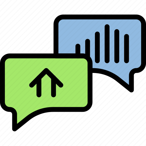 Real, estate, house, conversation, home, property icon