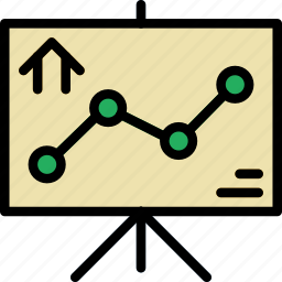 graph, home, house, property icon