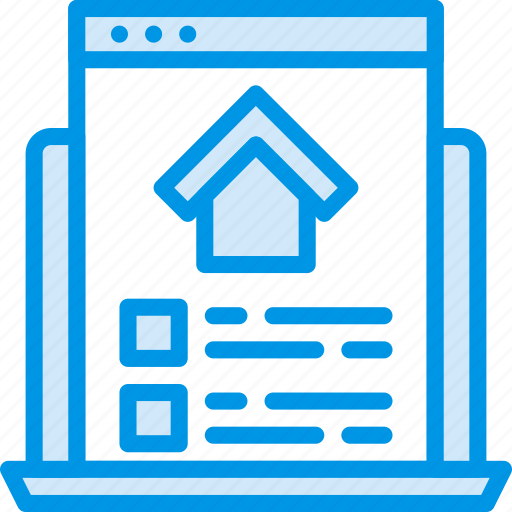 estate, home, house, property, real, webpage icon