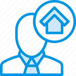 agent, estate, home, house, property, real, sales icon