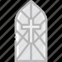 pray, cathedral, window, faith, religion