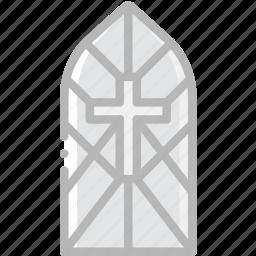 cathedral, faith, pray, religion, window icon