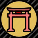faith, pray, religion, shintoism icon
