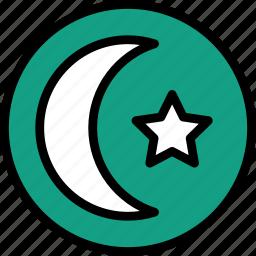 faith, islamism, pray, religion icon