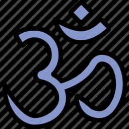 faith, hinduism, pray, religion icon