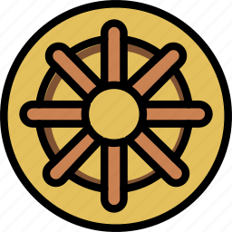 buddhism, faith, pray, religion icon