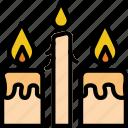 candles, faith, pray, religion icon