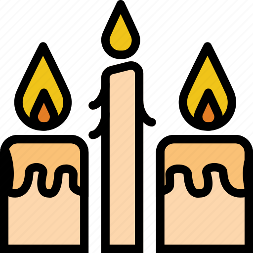 candles, faith, pray, religion icon