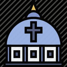 dome, faith, pray, religion, vatican icon