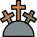 faith, holy, mountain, pray, religion icon