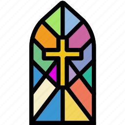 cathedral, faith, pray, religion, window icon