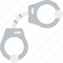 handcuffs, protection, secure, security icon