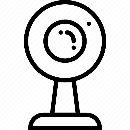 protection, secure, security, webcam icon