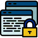browser, encrypted, protection, secure, security icon