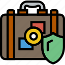 insurance, protection, secure, security, travel icon