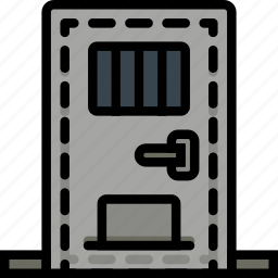 door, jail, protection, secure, security icon