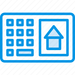 alarm, house, protection, secure, security icon
