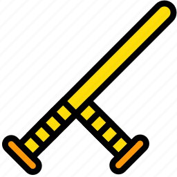 baton, police, protection, secure, security icon