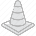 cone, safe, safety, security, traffic icon