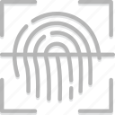 fingeprint, safe, safety, scan, security icon