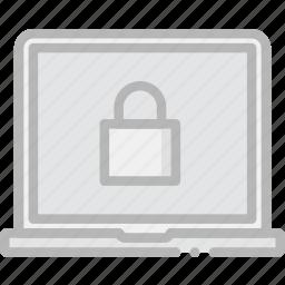 encryption, laptop, safe, safety, security icon