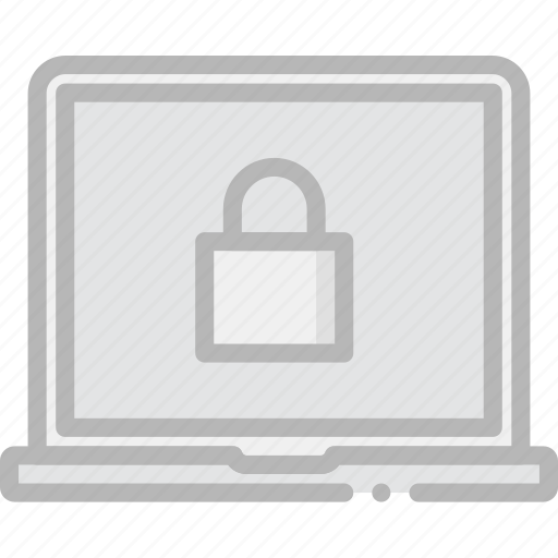 encryption, laptop, safe, safety, security icon
