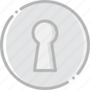 keyhole, safe, safety, security icon