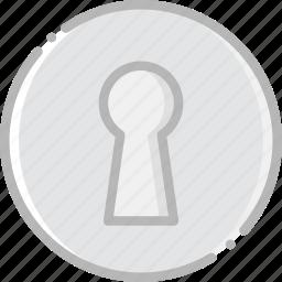 keyhole, safe, safety, security icon