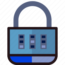 combination, lock, protect, safety, security icon