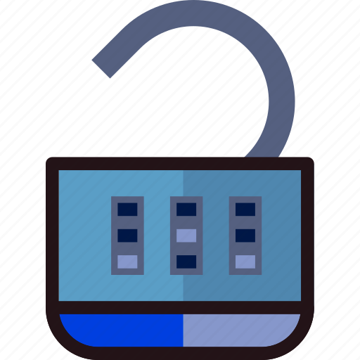 combination, lock, open, protect, safety, security icon
