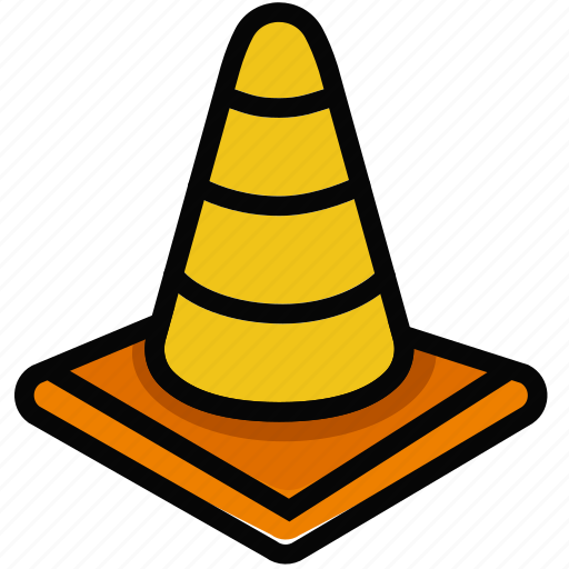 cone, protect, safety, security, traffic icon