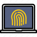 encryption, fingeprint, protect, safety, security icon