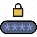code, pin, protect, safety, security icon