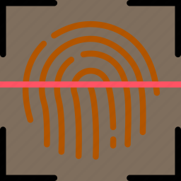 fingerprint, protect, recognition, safety, security icon